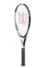 Wilson Tour Slam Strung Adult Recreational Tennis Racket (White/Black, 4 3/8)