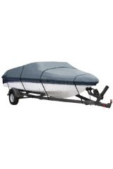 DuraShield Trailerable Boat Cover with Straps for V Hull / Fish Ski 14', 15', 16'